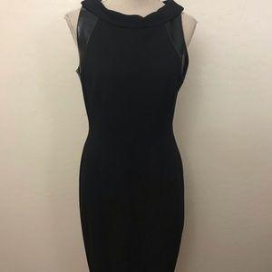 David Meister Black Cowl Neck Sheath Dress Size 8